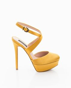 yellow heels, so cute for summer and heading into Fall