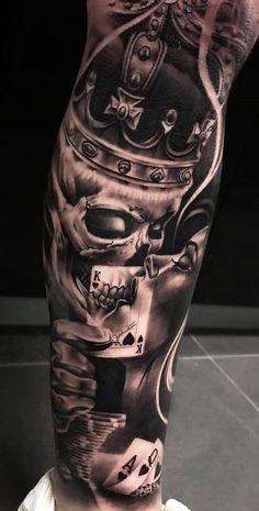 T Artikel Mens Tattoos Ideen tattoos sleeve - tattoos sleeve women - tattoos sleeve ideas - floral tattoos sleeve - skull tattoos sleeve - tattoos sleeve mens Chicano Tattoos Sleeve, Forarm Tattoos, Forearm Sleeve Tattoos, Dope Tattoos, Best Sleeve Tattoos, Forearm Tattoo Men, Badass Tattoos, Tattoo Sleeve Designs, Skull Tattoos