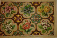 Designs Petit Point Stickvorlage von A. Nicolai Berlin woolwork pattern | eBay