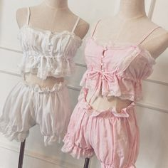 Vintage Inspired Lingerie Ruffle Bloomers & Camisole from Brandedkitty Shop Kawaii Fashion, Lolita Fashion, Cute Fashion, Moda Lolita, Lolita Mode, Lingerie Vintage, Pretty Lingerie, Beautiful Lingerie, Dress Vintage