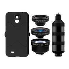 Camera lenses for your Samsung Galaxy S4 phone. Pro quality lenses with case and mount. Telephoto, wide angle and fisheye.
