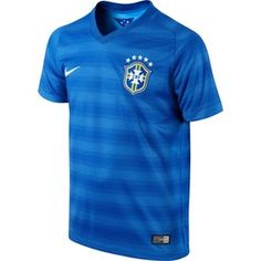 Brazil Kids (Boys Youth) 2014 FIFA World Cup Away Jersey