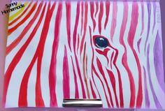 Challenge art journal - rayures #2  - peinture acrylique