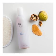 Liquid Body Lufra revitalizes and gives skin a luminous glow as you shower! Finely ground walnut shells buff out rough spots on elbows, backs of arms, knees, heels, and all over.