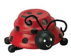 Create this project with Patio Paint Outdoor™ — Upcycle terra cotta saucers into this colorful, playful ladybug.
