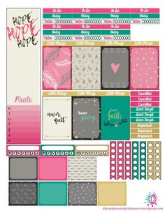 Keep Moving Kit Freebie for Happy Planner will help you fight the winter blues!