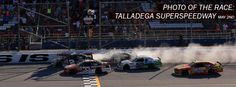 PHOTO OF THE RACE: @bscottracing & @austindillon3 taking the checkers @TalladegaSuperS. #NASCAR