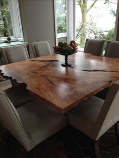 Urban Hardwoods Seattle - salvaged maple dining table