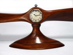 Antiques Atlas - Royal Flying Corp Propeller Desk Clock Antique Mantel Clocks, Desk Clock, Antiquities, Joyful, Aviation, Thoughts, Watches, Home Decor, Clock Table