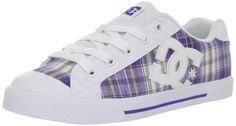 Amazon.com: DC Women's Chelsea Sneaker,White/Varsity Purple,7 M US: Shoes