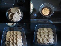 Sri-Lankan Goya Marie Biscuit Pudding recipe on Hot Desserts, Pudding Desserts, Pudding Recipes, Cookie Desserts, Dessert Recipes, Chocolate Lasagna, Cooking Chocolate, Marie Biscuit Pudding, Goya Recipe