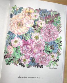 ん〜どうだろう。薔薇は難しむずかしい塗るのは楽しかったです。次に活かします✨ #世界一美しい花のぬり絵book #leiladuly #floribunda…