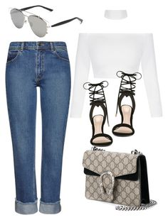"""""""Sin título #3448"""" by anahi1907 ❤ liked on Polyvore featuring Whistles, Christian Dior, Gucci and ALDO"""
