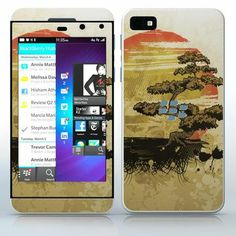 Bonsai Sunset Japanese landscape with tree and sun phone skin sticker for Cell Phones / Blackberry Z10 | $7.95