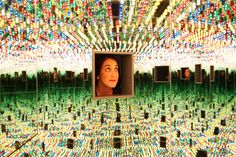 An exhibition at the Smithsonian's Hirshhorn Museum in Washington focuses on the mirrored-room environments of Ms. Kusama, a fixture of popular culture.
