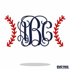Custom Monogram Baseball Pattern Vector Art dxf svg by SVGTREE