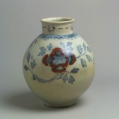 Large jar with decoration of peonies, Joseon dynasty (1392–1910), second half of the 19th century. Korea. Porcelain with underglaze cobalt-blue and copper-red design; H. 15 in. (38.1 cm). The Metropolitan Museum of Art, New York, Fletcher Fund, 1927 (27.119.22) © 2000–2015 The Metropolitan Museum of Art.