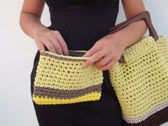 Set of crocheted Handbag with purse  womens by NavitrineShop