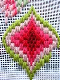 Bargello work-in-progess, not my own, but something I intend to attempt very soon Motifs Bargello, Broderie Bargello, Bargello Patterns, Bargello Needlepoint, Needlepoint Stitches, Hand Embroidery Stitches, Diy Embroidery, Embroidery Techniques, Cross Stitch Embroidery
