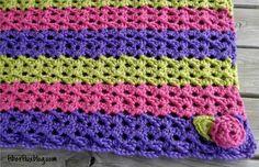 Sorbetto Baby Blanket & Play Mat, free crochet pattern from Fiber Flux