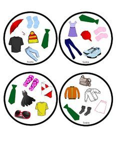 Funglish: Clothes - part 1 English Games, English Fun, English Idioms, English Lessons, Teaching French, Teaching English, Color Vector, Vector Design, Double Game