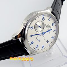 43mm parnis white dial blue marks power reserve automatic mens watch P08     Tag a friend who would love this!     FREE Shipping Worldwide     Get it here ---> https://shoppingafter.com/products/43mm-parnis-white-dial-blue-marks-power-reserve-automatic-mens-watch-p08/