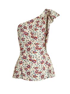 Click here to buy Isabel Marant Rowina floral-print silk top at MATCHESFASHION.COM