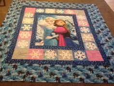 Frozen quilt made from the Fons and Porter pattern.