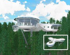 futuristic houses | Creative Futuristic Tree House Design