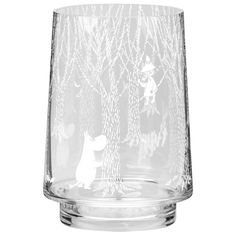 In the Woods lantern/vase 20 cm from Muurla - NordicNest.com Candle Lanterns, Candles, Moomin Valley, Glass Vase, The Originals, Woods, Design, Decor, Fine China