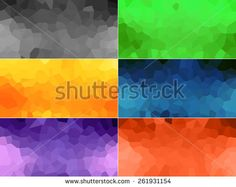 Set of geometric abstract colored backgrounds - stock photo