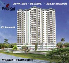 #2BHK Flats  - 858sqft 35 Lacs Onwards @ Kirkitwadi   #Kirkitwadi #Pune #SinhgardRoad  #PropKat-9168609838