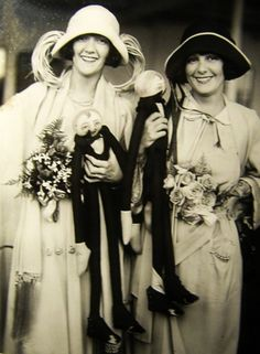 Constance and Norma Talmadge with two little friends - c. 1920s
