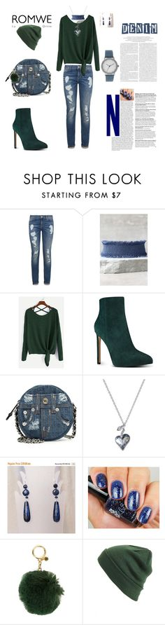 """""""denim green affair"""" by agnesmakoni ❤ liked on Polyvore featuring Tommy Hilfiger, LULUS, Nine West, Moschino, Callura, MICHAEL Michael Kors, BP. and A Classic Time Watch Co."""