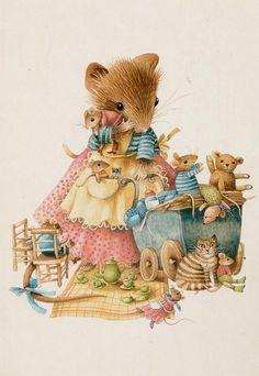 uitg comite  Kinderpostzegels - Marjolein  Bastin ,  Muizenfamilie