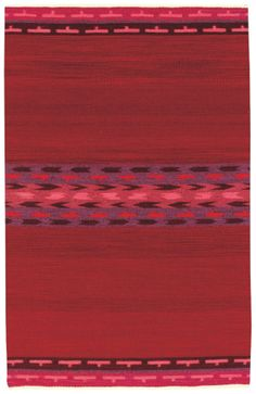RugStudio presents Capel Woven Spirits-Navajo 525 Strawberry Fields Flat-Woven Area Rug