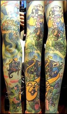 CRAZY Awesome adventure time, regular show tattoo | InkFreakz.com