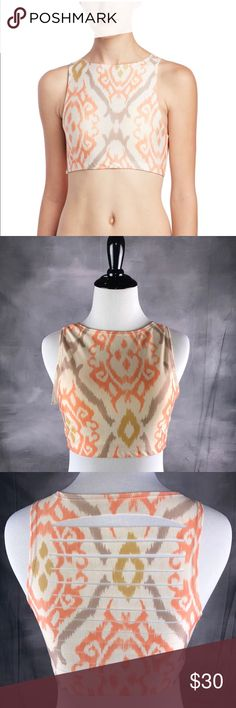 """{Unity Collection} Cody Bra Top *Brand New with Tags  *Excellent Condition  *Size M/L * Strappy Open Back Detail *82% Polyester, 18% Spandex *Machine Wash *pit to pit 15"""" * Approximately 12in From Shoulder To Hem Uintah Intimates & Sleepwear Bras"""