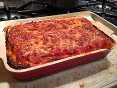 Skinny Eggplant Parmigiana (read for a great tip on how to better salt eggplant, good tip on baking eggplant, and a recipe with less cheese than typical parmigiana recipes)