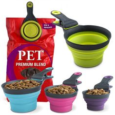 It scoops dry food, is a measuring cup and clips to the top of the bag too. Oh and it is dishwasher safe. Yep, Klipscoop is pretty handy http://www.dfordog.co.uk/dry-food-klip-scoop-measuring-cup.html