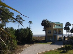 Two Palms , Gulf Front on the Gulf of Mexico, 4BDR/3 BTH with hot tub on deck. Sleeps 10. Pet Friendly.  www.two-palms.com
