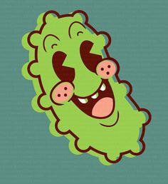 Retro Cucumber Mascot