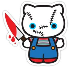 Chucky; had to use a cute pic because he scares me too much. Don't want his face on my Pinterest.