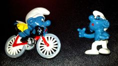 Love Smurfs? RARE VINTAGE 80s BICYCLING & SLEEPWALKING SMURF SCHLUMPF 1980s TV CARTOON KIDS CYCLING SLEEP TOYS COLLECTIBLES - on eBay! $3.98