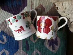 Emma Bridgewater Christmas baby mugs - Christmas Joy and Christmas Rose