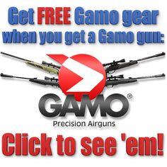 Get FREE Gamo Outdoor USA Gear when you get one of these Gamo guns!  http://www.pyramydair.com/a/Specials/FREE_Gamo_gear/1213?utm_source=pinterest_medium=social_campaign=airg-eblast-free-gamo-gear