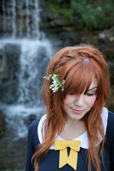 Beautiful red hair and a side braid. Love Hair, Great Hair, Gorgeous Hair, Side Braid Hairstyles, Pretty Hairstyles, Style Hairstyle, Cute Side Braids, Side Plait, Pretty Braids