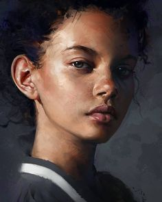 "2,045 Likes, 48 Comments - Aaron Griffin (@aarongriffinart) on Instagram: ""Today's study of this popular reference - Marina Nery #painting #portrait #drawing #digital…"""