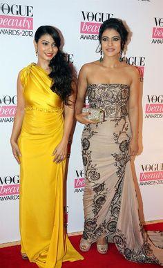 Bollywood, Tollywood & Más: Kajol Vogue Beauty Awards 2012 in Mumbai with sister Tanisha