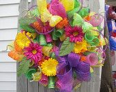 Spring has Sprung......Spring/Summer Mesh Wreath